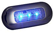 T&H Marine LED51823DP Oblong Courtesy Light - 3 Blue LED