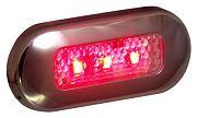 T&H Marine LED51824DP Oblong Courtesy Light - 3 Red LED
