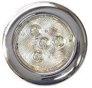 """T&H Marine LED51827DP Puck Light - 3"""" Dia - 4 Warm White LEDs"""