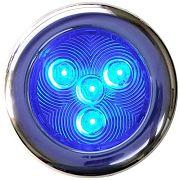 """T&H Marine LED51828DP Puck Light - 3"""" Dia - 4 Blue LED"""