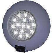 "T&H Marine LED51829DP Surface Mount Dome Light w/Switch - 4"" Dia - 15 Cool White LED"