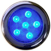 "T&H Marine LED51832DP Puck Light - 4"" Dia - 6 Blue LEDs"