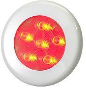 """T&H Marine LED51848DP Recessed 3"""" LED Puck Flood Light - 3-Bezels - 6 Red LED"""