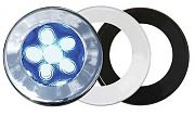 "T&H Marine LED51849DP Recessed 3"" LED Puck Flood Light - 3-Bezels - 6 Blue LED"