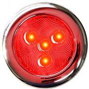 "T&H Marine LED51897DP Puck Light - 3"" Dia - 4 Red LED"