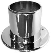 "T&H Marine RF1CPDP Rigging Flange, fits 2"" rigging hose, Chrome plated"