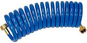 T&H Marine WDHBR15BBDP Blue Coiled Wash Down Hose 15´