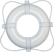 Taylor Made 360 20´´ White with White Rope Vinyl Coated Life Ring