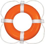 Taylor Made 364 24´´ Orange with White Rope Vinyl Coated Life Ring