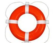 "Taylor Made 383 30"" Orange with White Rope Foam Ring Buoy"