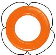 "Taylor Made 570 30"" Orange with Black Rope Polyethylene Ring Buoy"