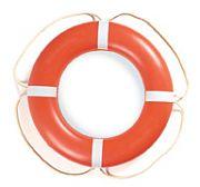 "Taylor Made 570001 24"" Orange with White Rope Aer-O-Buoy Life Ring"