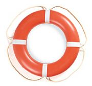 "Taylor Made 570003 30"" Orange with White Rope Solas Aer-O-Buoy Life Ring"