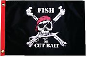 Taylor Made Fish Or Cut Bait 12X18 Nylon Flag