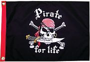 Taylor Made Pirate for Life 12X18 Flag