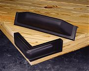 Taylor Made Vinyl Dock Bumpers Black Corner mount 10´ x 10""