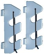 Teak Isle 25707 Rod Holder With Bungee & Backers - 2 Rods