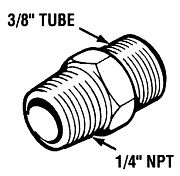 Teleflex HF5528 Tube Connector 1/4´´ Male End