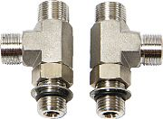Teleflex HF6006 Orb Fitting Vertical Tee 2PK - Clearance