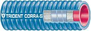 "Trident 252V1004 Blue VHT Corrugated Silicone Wet Exhaust 1"" I.D"