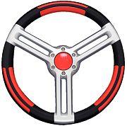 "Uflex DORIABR 13.8"" Doria Black/Red/Silver Steering Wheel"