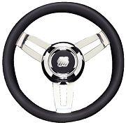 """Uflex MOROSINIUCHB 13.8"""" Black Morosini Steering Wheel"""