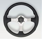 Uflex Nisidabp Nisida Black Grip With Polished Aluminum Spokes Steering Wheel