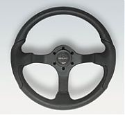 Uflex Nisidabs Nisida Black Grip With Black Spokes Steering Wheel