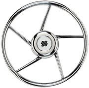 "Uflex V06 13.8"" 5 Spoke Stainless Steel Steering Wheel"