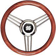 "Uflex V26 13.8"" Mahogany Non-Magnetic Stainless Steel Steering Wheel"