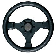 "Uflex V45 11"" Black Ultraflex Soft Touch Steering Wheel"
