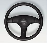Uflex V60 Antigua Steering Wheel - Black Grip With Black Spokes