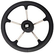 "Uflex V70B 13.8"" Polyurethane Firm Stainless Steel Steering Wheel"
