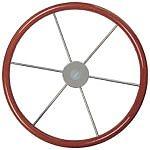 "Vetus KW38 15"" Mahogany Rim Steering Wheel"