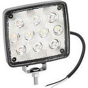 Wesbar 54209002 Rectangular White LED Exterior Work Lamp