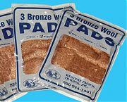 Western Pacific 35010 Course Bronze Wool Pads 3/PK