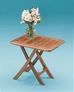 WhiteCap 60028 Teak Small Adjustable Slat Top Table