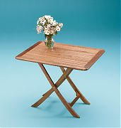 WhiteCap 60029 Teak Large Adjustable Slat Top Table