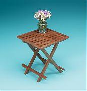 WhiteCap 60030 Teak Grate Top Fold Away Table