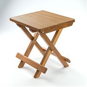 WhiteCap 60034 Teak Groove Top Fold Away Table