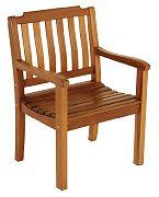 WhiteCap 60065 Teak Garden Chair with Arms