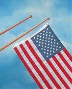 "WhiteCap 60752 Teak 30"" Flag Pole"