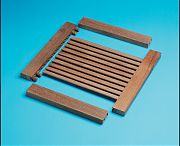 WhiteCap 60881 Teak 4´ Louvered Door Top/Bottom Stile