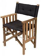 WhiteCap 61051 Teak Director´s Chair II with Black Seat Cushion