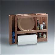 WhiteCap 62402 Teak Dish/Cup/Paper Towel Rack