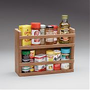 WhiteCap 62440 Teak Two Tier Spice Rack