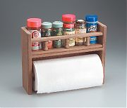 WhiteCap 62446 Teak Spice Rack with Paper Towel Holder