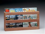 WhiteCap 62508 Teak Double Wide Magazine Rack