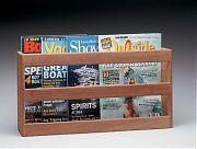 WhiteCap 62508 Teak Double Wide Magazine Rack