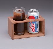 WhiteCap 62610 Teak Two Drink Rack